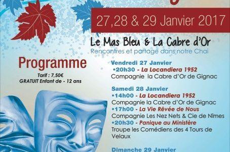 7ème Festi'Val des Vignes Weekend Théâtre Amateur les 27,28 et 29 Janvier 2017